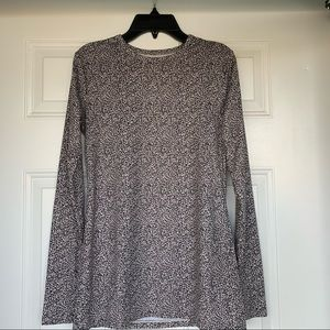 •Cuddl Duds• Microwear Animal Print Top-Size Small